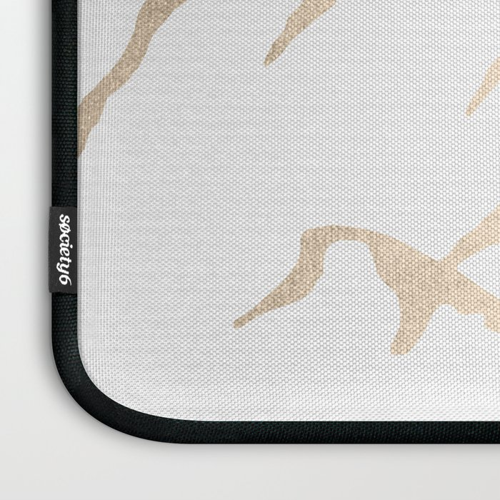 Adventure White Gold Mountains Laptop Sleeve