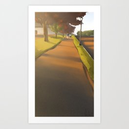 The Ending Road Art Print