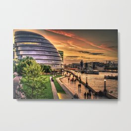 F O S T E R | architect | London City Hall Metal Print