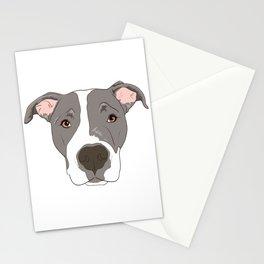 Pitbull Portrait Stationery Cards