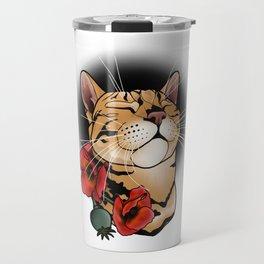 cat tattoo style Travel Mug