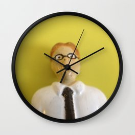 Yellow Accountant Wall Clock