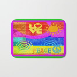 Love Peace Bath Mat