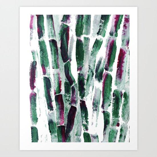 Greenery and Purple Art Sugar Cane Art Print