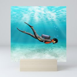 S.C.U.B.A. Diver Mini Art Print