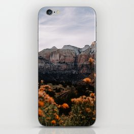 Zion Canyon through the Flora iPhone Skin