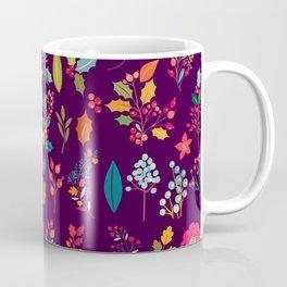 Autumn orange purple pink berries holly floral Coffee Mug