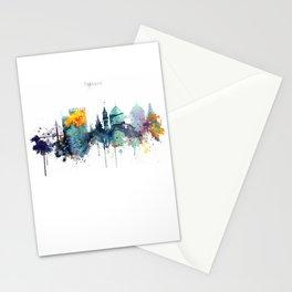Oakland California Blue  skyline print Stationery Cards