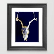 Skull Dye Framed Art Print