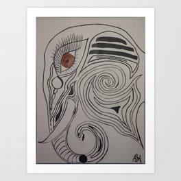 Elephmaze. Art Print