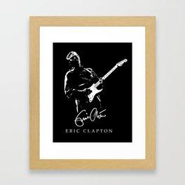Eric Clapton - rock-blues-music -  Guitar-Strato Framed Art Print