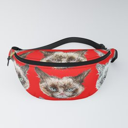Cats Cats Cats on Red Fanny Pack
