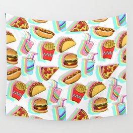 Rainbow Fast Food Wall Tapestry