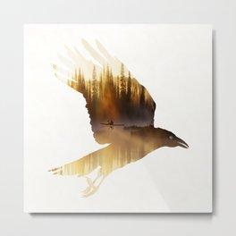 Crow Mystic River - II Metal Print