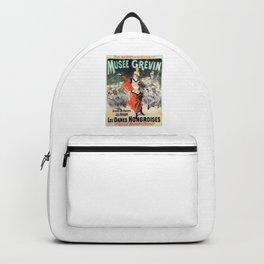 vintage travel poster Musee Grevin Grand Orchestre Jos Heisler Jules Cheret 1888 Backpack