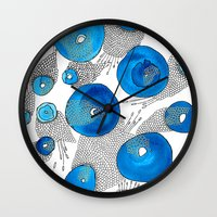 lace Wall Clocks featuring Lace by Gosia&Helena