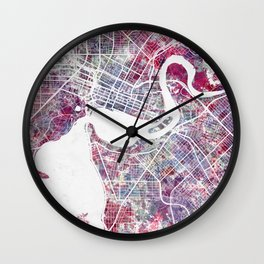 Perth map Wall Clock