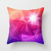 destiny Throw Pillows featuring Destiny by Geni
