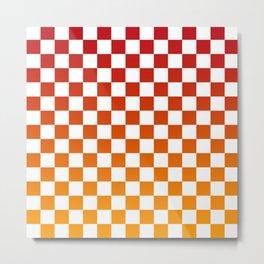 Chessboard Gradient Metal Print
