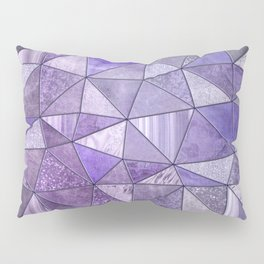 Purple Lilac Glamour Shiny Shimmering Patchwork Pillow Sham