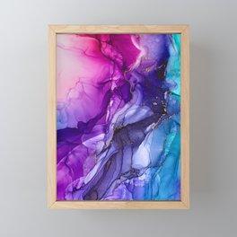Abstract Vibrant Rainbow Ombre Framed Mini Art Print
