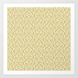 Art Nouveau Pattern Gold Art Print