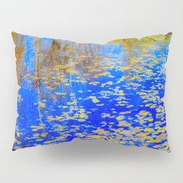 Golden leaves, shimmering pond Pillow Sham