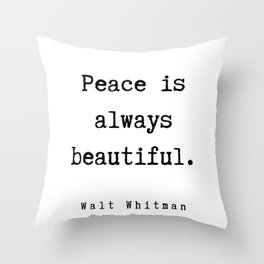 10     | Walt Whitman Quotes | 190803 Throw Pillow