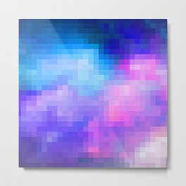 pixel galaxy Metal Print