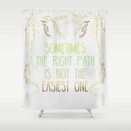 Grandmother Willow's Words Shower Curtain