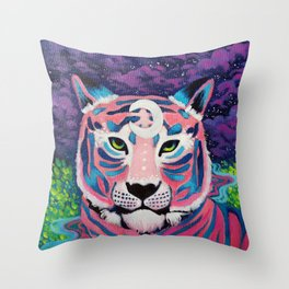 Moon River Tiger Throw Pillow