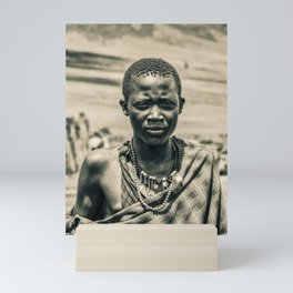 4300 Portrait of Young Maasai Tanzania East Africa Mini Art Print