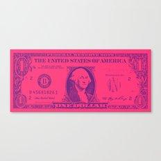 PINK MONEY Canvas Print