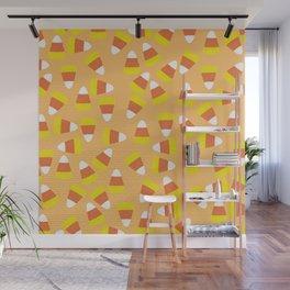 Candy Corn Jumble (light orange background) Wall Mural