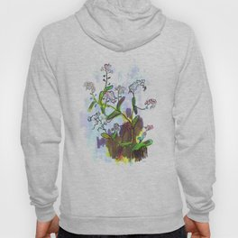 "Original Flower print ""Forget Me Not"" Hoody"