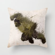 The Angry man Throw Pillow