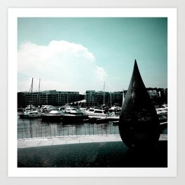 Marina at Keppel Bay, Singapore Art Print