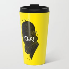 Doh – Homer Simpson Silhouette Quote Travel Mug