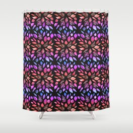 All the Colors of Nature - Gradient on Dark Background Shower Curtain