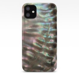 Shimmery Greenish Pink Abalone Mother of Pearl iPhone Case