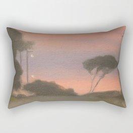 Evening Landscape - Clarice Beckett - Australian abstract Realism Rectangular Pillow