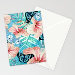 Tropical Spring Aqua Stationery Cards