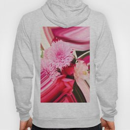 Pink Flowers Abstract Hoody