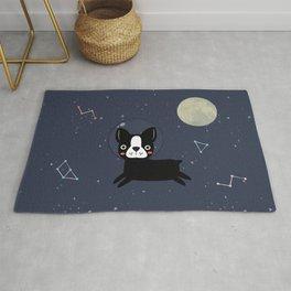 Boston Terrier In Space Rug
