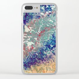 Mountain Trail Edit Clear iPhone Case
