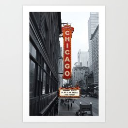 Sign, Chicago Theater Art Print