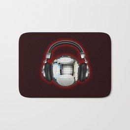 Headphone disco ball Bath Mat