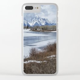 Grand Tetons from Oxbow Bend Clear iPhone Case