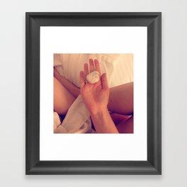sleeping crystal Framed Art Print