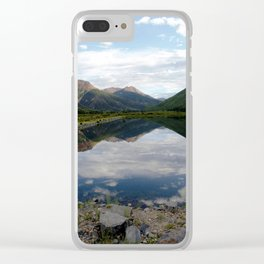 Reflection of the Red Mountains on Crystal Lake Clear iPhone Case